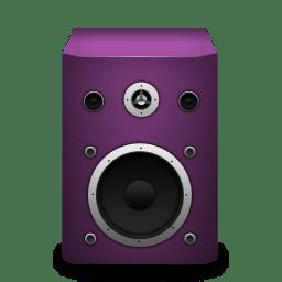 Speaker pink icon