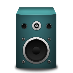 Speaker turquoise icon