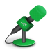 Microphone-foam-green icon