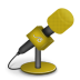 Microphone-foam-orange icon