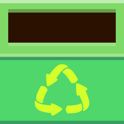 Places trashcan empty icon