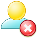Delete group icon
