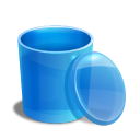 Blue-recycle-bin-empty icon