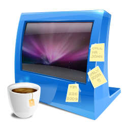 Blue computer icon