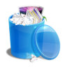 Blue-recycle-bin icon