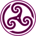 Mauve Wheeled Triskelion 2 icon