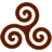 Brown Triskele icon