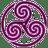 Mauve-Wheeled-Triskelion-1 icon