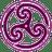 Mauve-Wheeled-Triskelion-2 icon