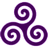 Purple Triskele icon