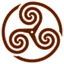 Brown Wheeled Triskelion 1 icon