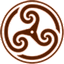 Brown Wheeled Triskelion 2 icon