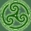 Green Wheeled Triskelion 2 icon
