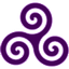 Purple-Triskele icon