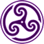 Purple-Wheeled-Triskelion-2 icon