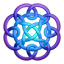Purpleblue circleknot icon