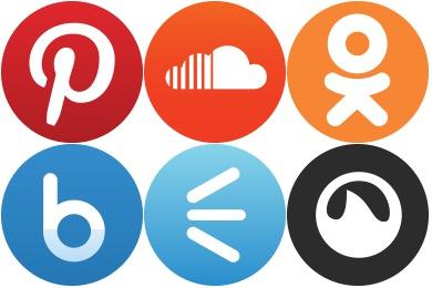 Basic Round Social Icons