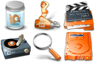 Xtra Orange Icons