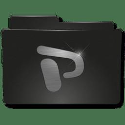 Folders Ppoint Icon Black Metal Folder Iconset Sirubico