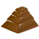 chocolate pyramid icon