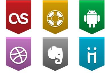Social Media Buntings Icons