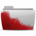 Folder-Bloody-Gray icon