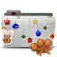 Folder Xmas cookies icon