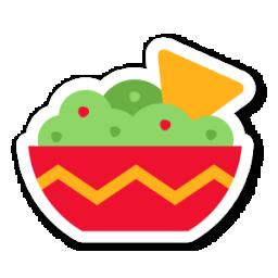 guacamole icon swarm app sticker iconset sonya