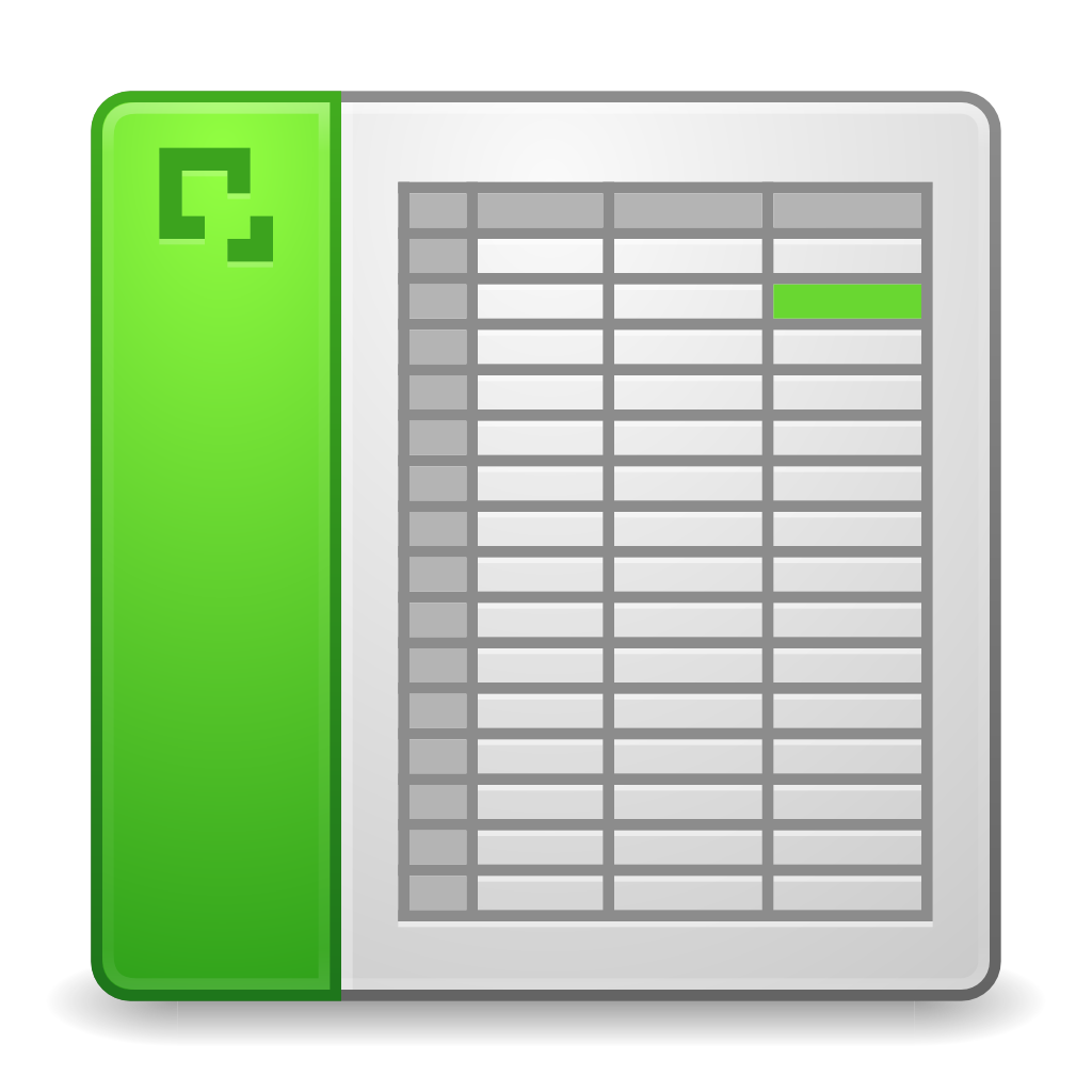 Excel Worksheet Icon : Mimes application vnd ms excel icon matrilineare iconset
