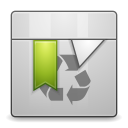 Places user trash full icon