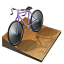 Cycling track icon