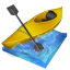 kayak slalom icon