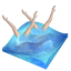 Swimming synchronized icon