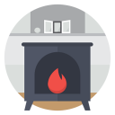 Fire stove icon