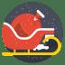 Santa-cart icon