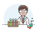 Lab scientist icon