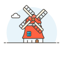 Netherlands windmill icon
