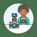 Photographer male icon