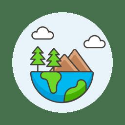 Ecology globe icon