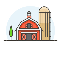 Farm barn icon