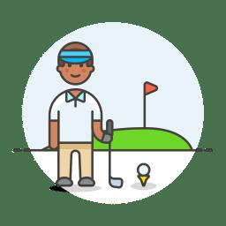 Golfer male icon