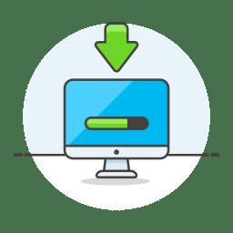 Monitor loading progress icon