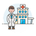 Doctor-hospital icon