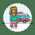 Hippie-male icon