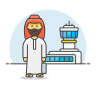 Arab-male-travel icon