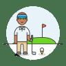 Golfer-male icon