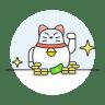 Lucky-cat-money icon