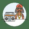 Reggae-male icon