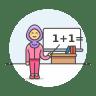 Teacher-maths-female icon