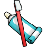 Toothpaste-Toothbrush icon